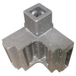 High-strength steel casting ready for 3D scan/dimensional checks 3 weeks after PO