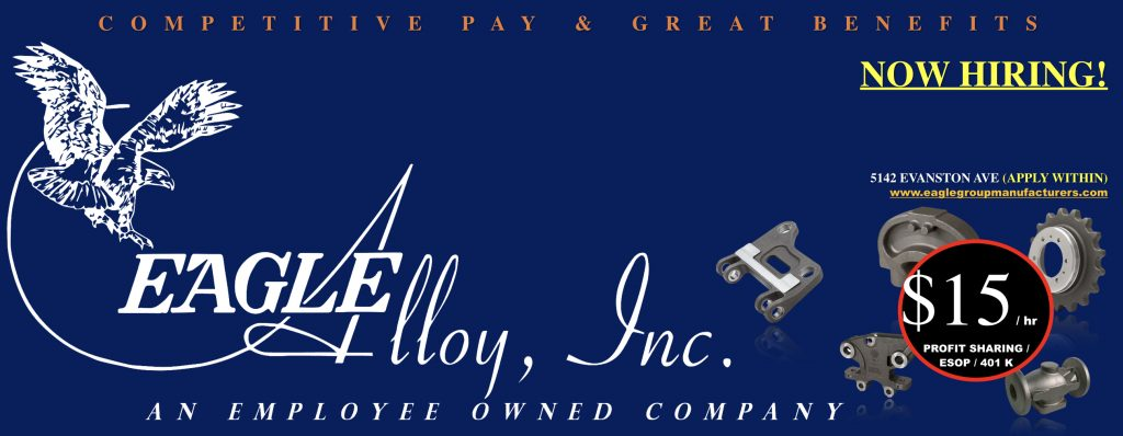 Eagle Alloy - Good Paying Jobs in Muskegon, MI
