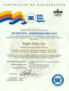 Eagle Alloy - ISO Certification