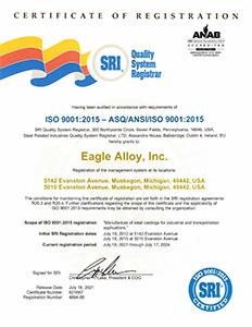 Eagle Alloy ISO Certification - Thumb